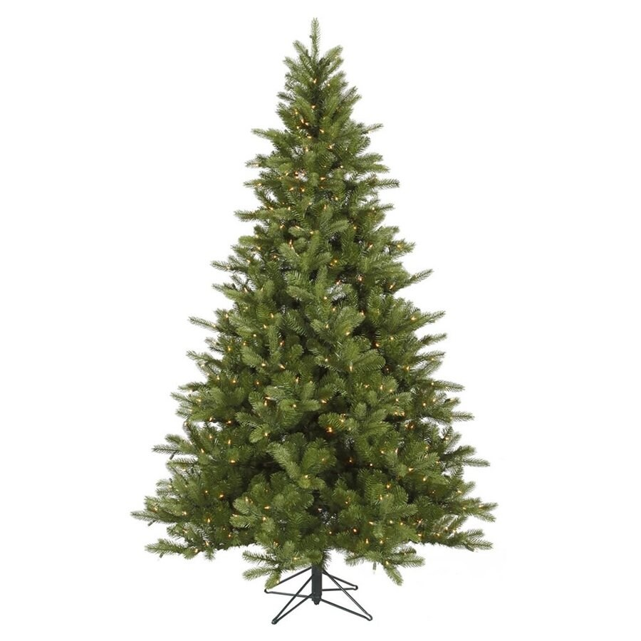 Vickerman 7.5-ft Pre-Lit King Spruce Artificial Christmas Tree with White Clear Incandescent Lights