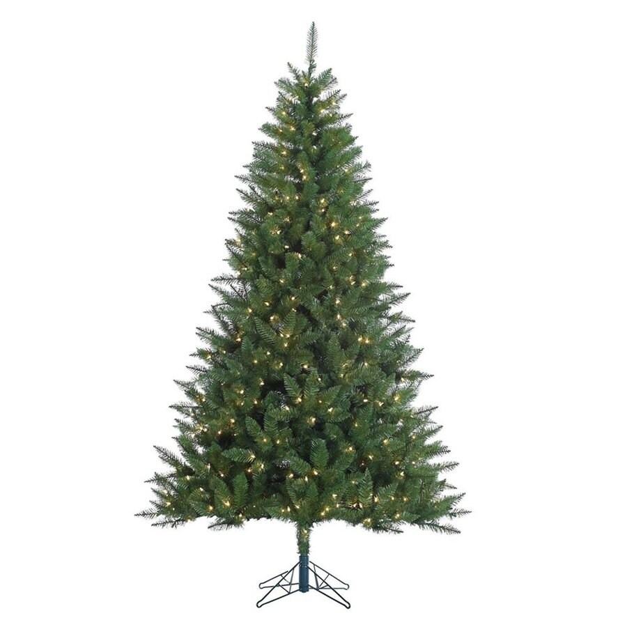 Vickerman 7.5-ft Pre-Lit Lincoln Fir Artificial Christmas Tree with Clear White Incandescent Lights