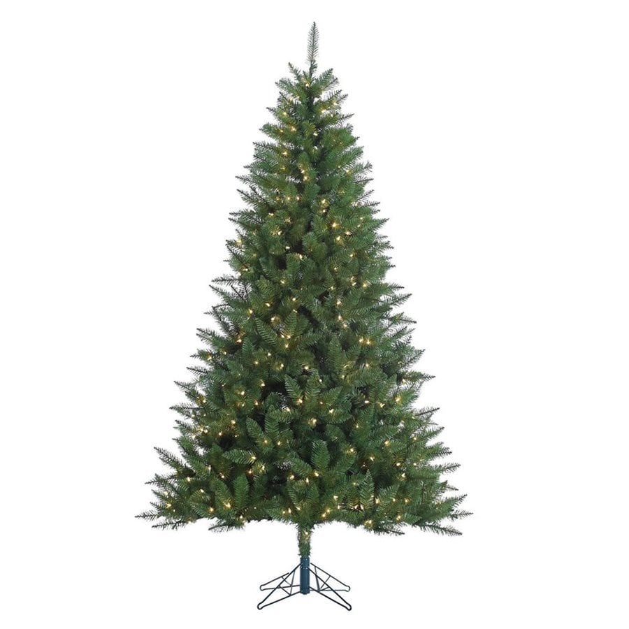 Vickerman 7.5-ft Pre-lit Lincoln Fir Artificial Christmas Tree with 500 Constant Clear White Incandescent Lights