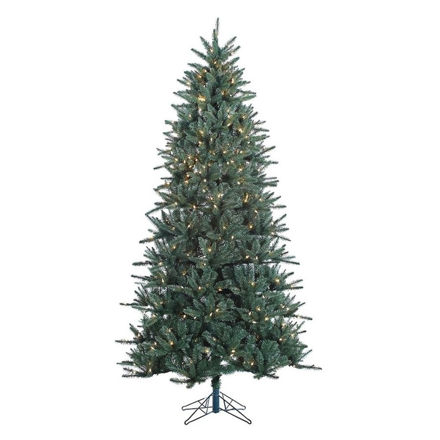 Vickerman 7.5-ft Pre-Lit Baldwin Spruce Artificial Christmas Tree with White Clear Incandescent Lights