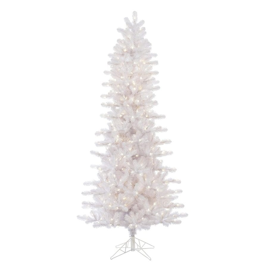 Vickerman 7 5 Ft Pre Lit Slim Artificial Christmas Tree