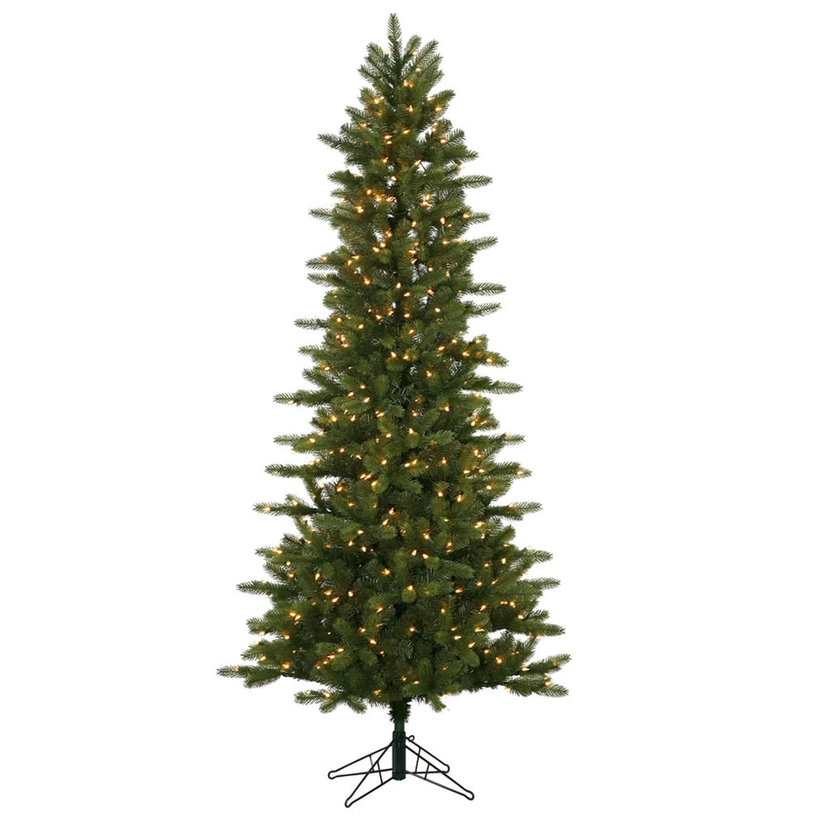 Vickerman 7.5-ft Pre-Lit Kennedy Fir Slim Artificial Christmas Tree with Clear White Incandescent Lights