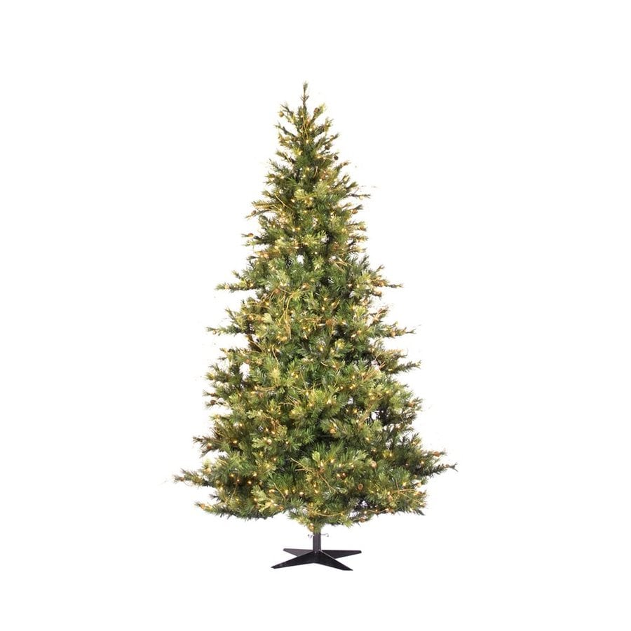 Vickerman 14-ft Pre-Lit Artificial Christmas Tree with Clear White Incandescent Lights