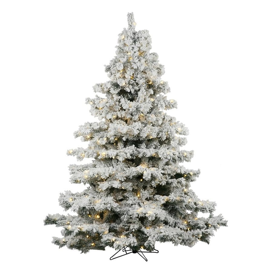 Vickerman 6.5-ft Pre-Lit Alaskan Pine Artificial Christmas Tree with Warm White LED Lights