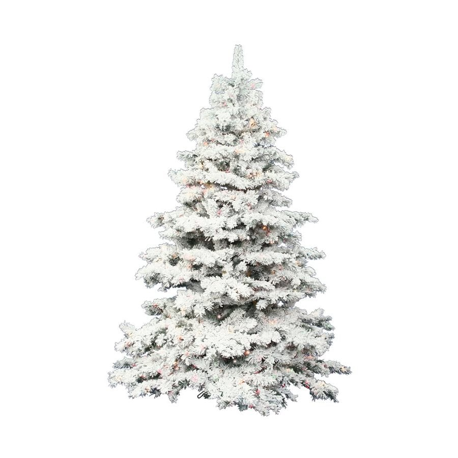 Shop vickerman ft pre lit alaskan pine flocked