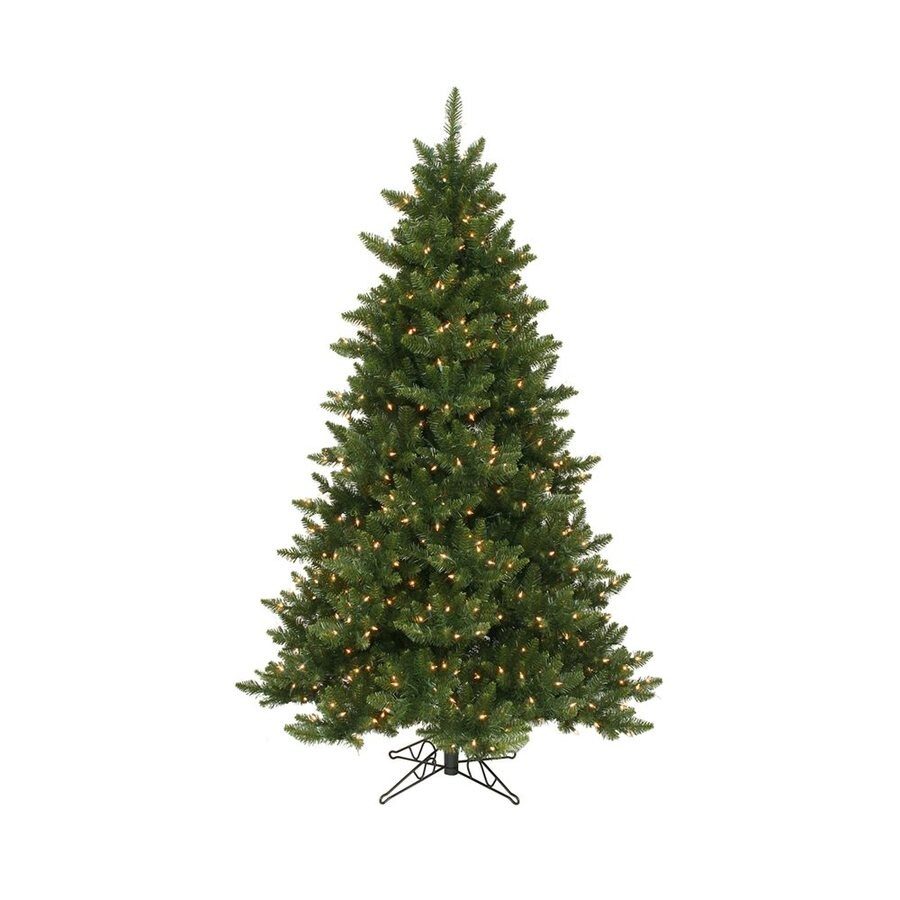 Vickerman 6.5-ft 1270-Count Pre-lit Camdon Fir Artificial Christmas Tree with Constant 600 White Clear Incandescent Lights