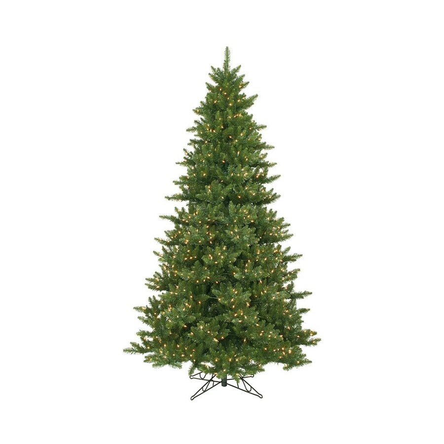 Vickerman 12-ft Pre-Lit Camdon Fir Artificial Christmas Tree with White Clear Incandescent Lights