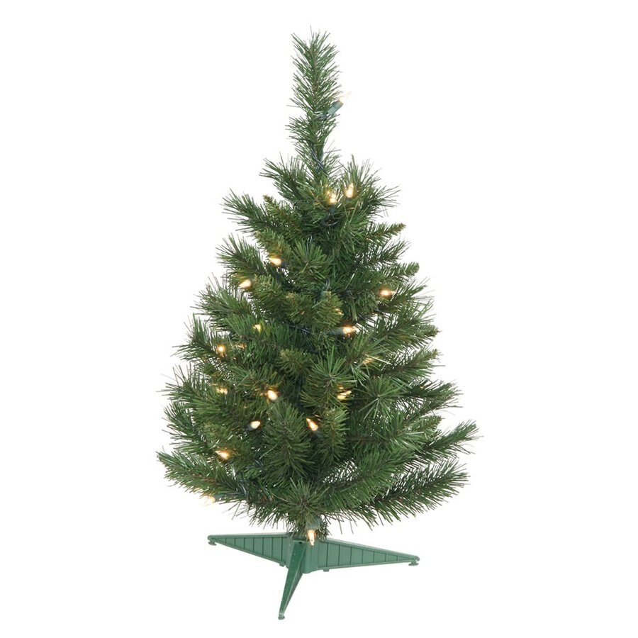 2 Ft White Christmas Tree: Vickerman 2-ft Pre-lit Imperial Pine Artificial Christmas