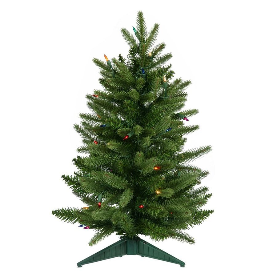 Vickerman 2-ft 90-Count Pre-lit Frasier Fir Artificial Christmas Tree with Constant 50 Multicolor Incandescent Lights