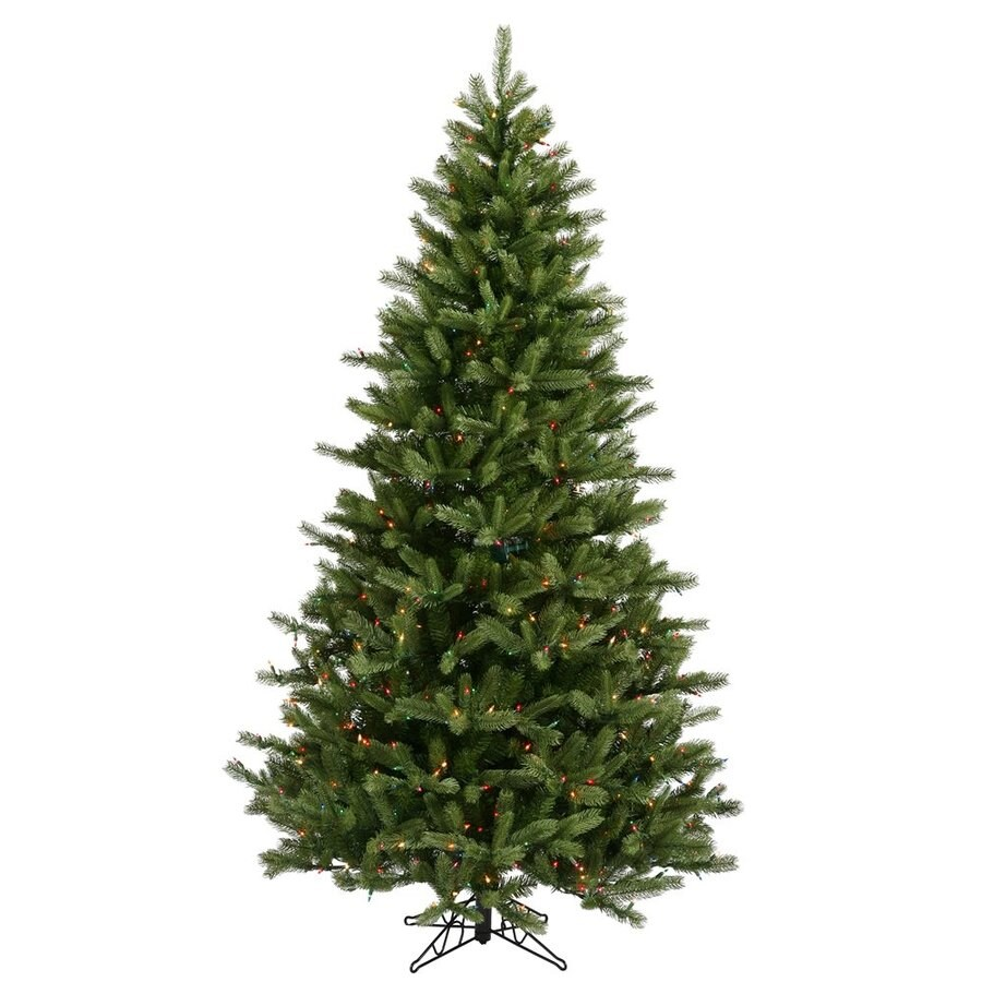 Vickerman 9-ft Pre-Lit Black Hills Spruce Artificial Christmas Tree with Multicolor Incandescent Lights
