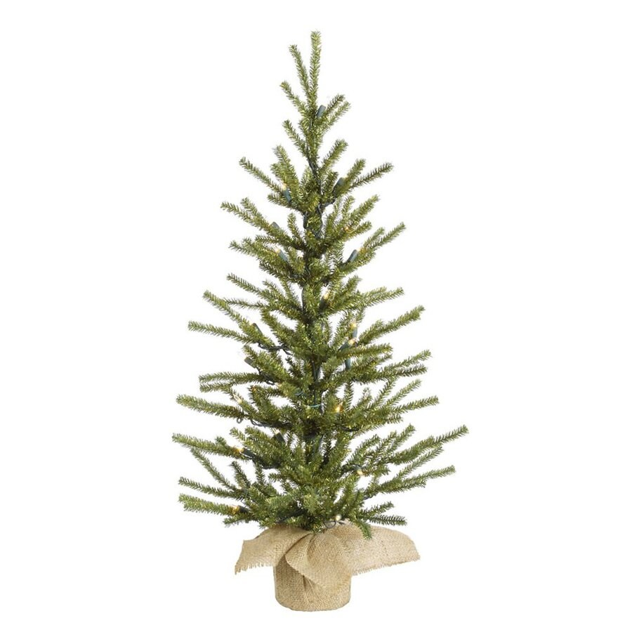 2 Ft White Christmas Tree: Shop Vickerman 2.5-ft Tabletop Pre-Lit Pine Artificial