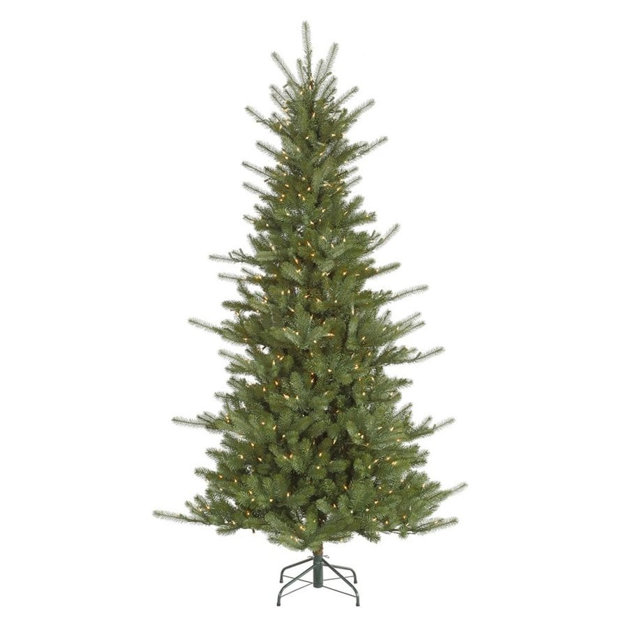Vickerman 6.5-ft Pre-Lit Colorado Spruce Artificial Christmas Tree with White Clear Incandescent Lights