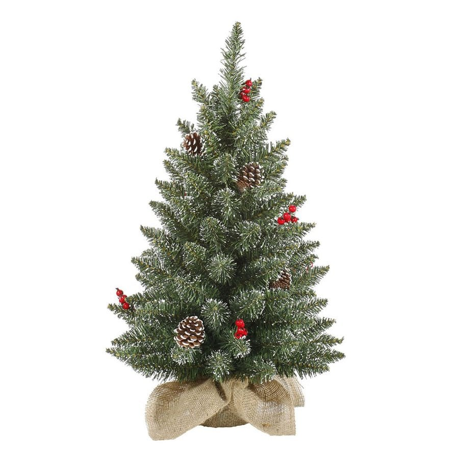 Vickerman 2-ft Pine Green Artificial Christmas Tree at ...