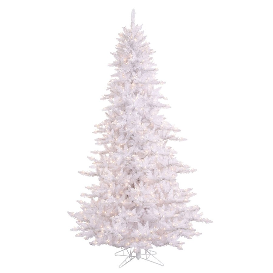 vickerman 55 ft pre lit fir white artificial christmas tree with white incandescent lights