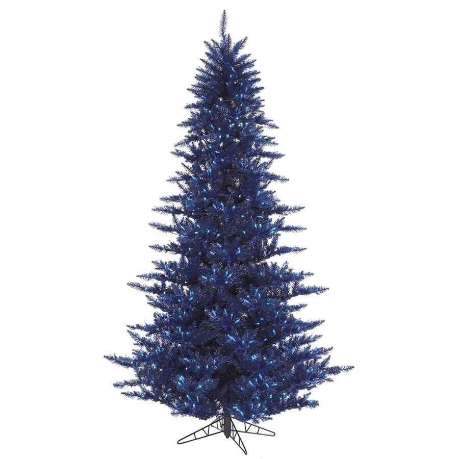 Shop Vickerman 7 5 Ft Pre Lit Fir Blue Artificial Christmas Tree  - Vickerman Pre Lit Christmas Trees