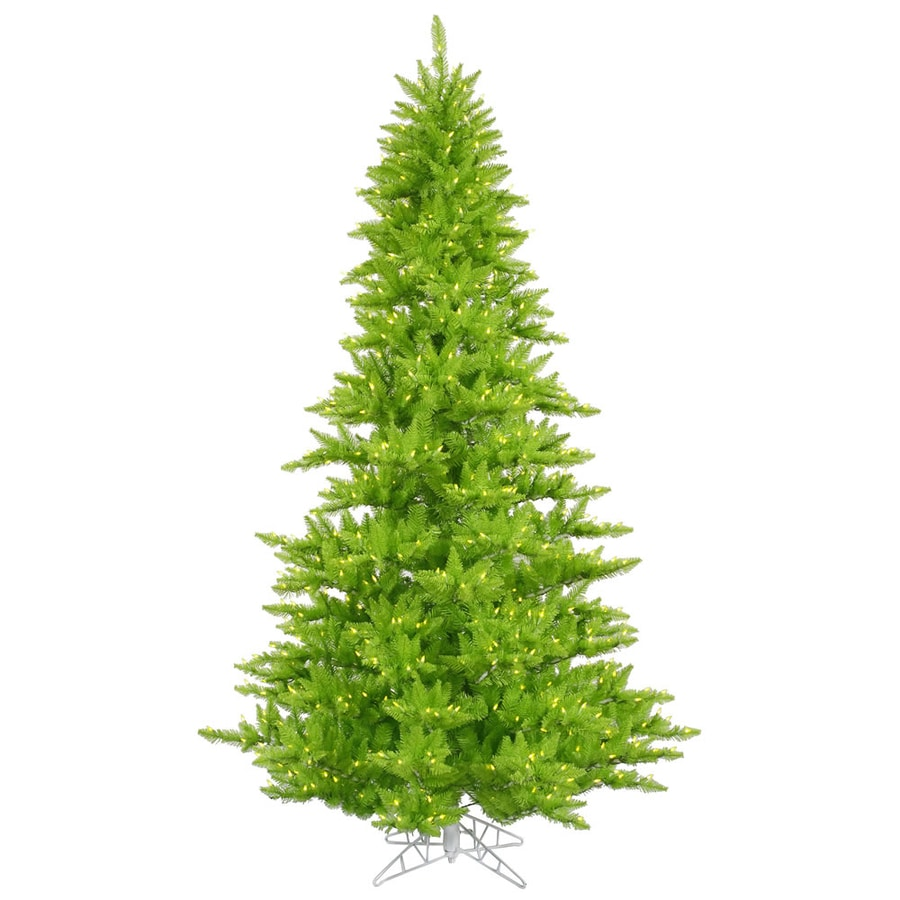 Vickerman 6.5-ft Pre-Lit Whimsical Artificial Christmas Tree with Green Incandescent Lights