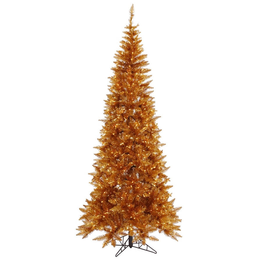 Vickerman 7.5-ft Pre-Lit Whimsical Slim Artificial Christmas Tree with Clear White Incandescent Lights