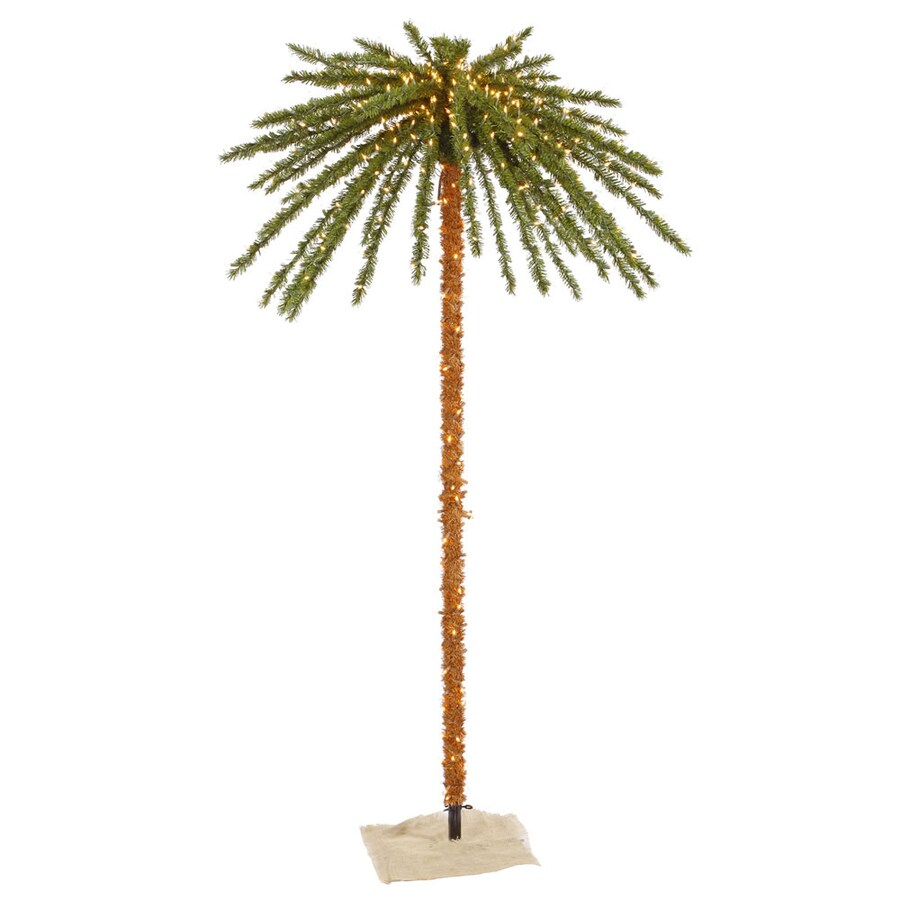 awesome vickerman prelit pvc palm tree with white lights with pre lit artificial palm trees - Christmas Tree Palm