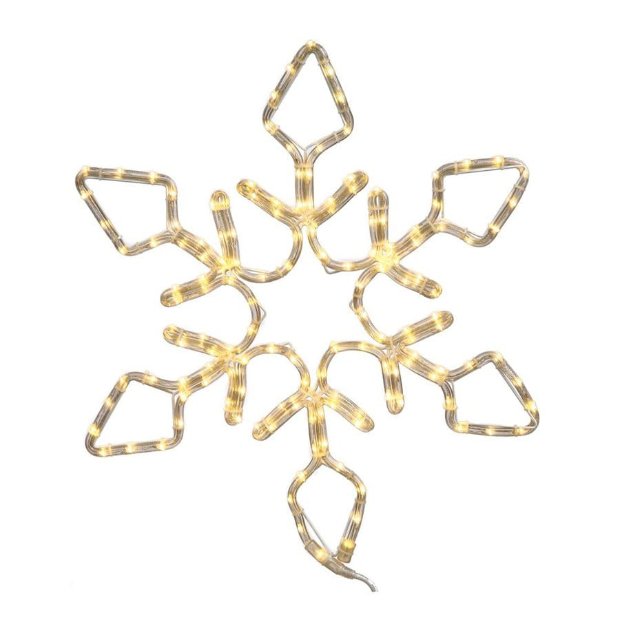 Vickerman 4-ft Hanging Snowflake Light Display with Constant White LED Lights
