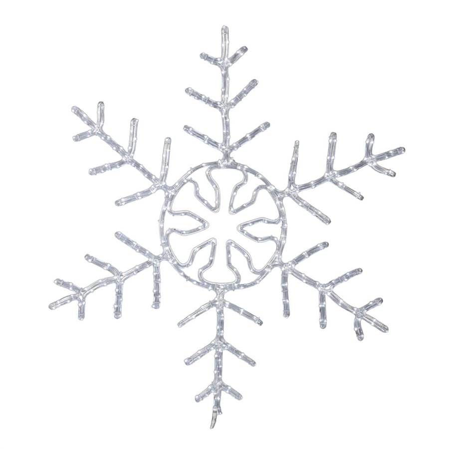 Vickerman 48 in hanging snowflake light display with white - Snowflake exterior christmas lights ...