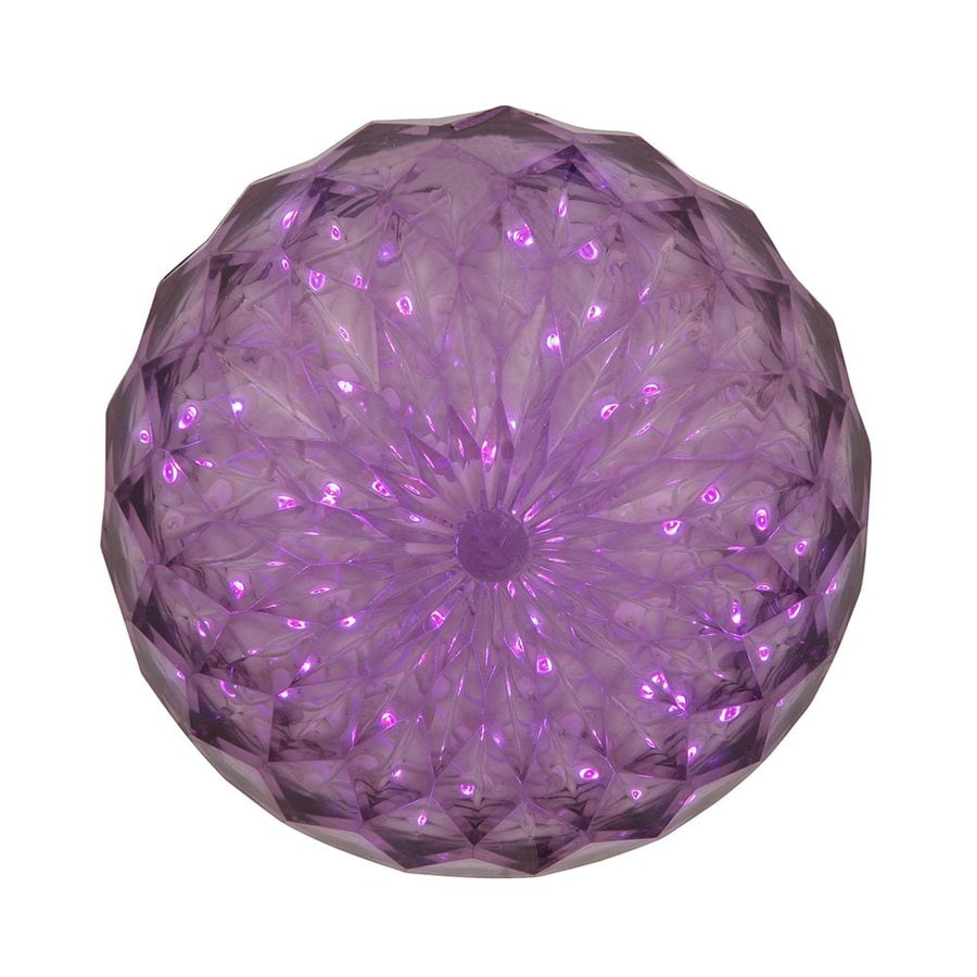 Vickerman Pre-Lit Ball Sculpture with Constant Purple LED Lights