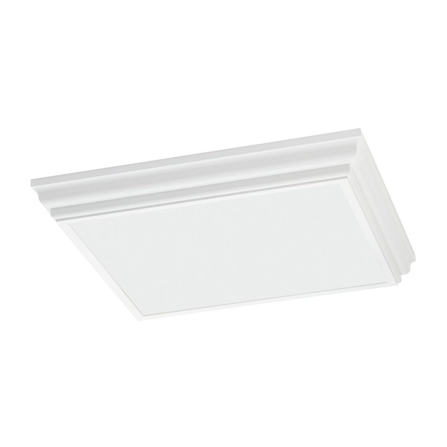 Shop flush mount fluorescent lights at lowes sea gull lighting decorative drop lens white acrylic ceiling fluorescent light energy star common aloadofball Gallery