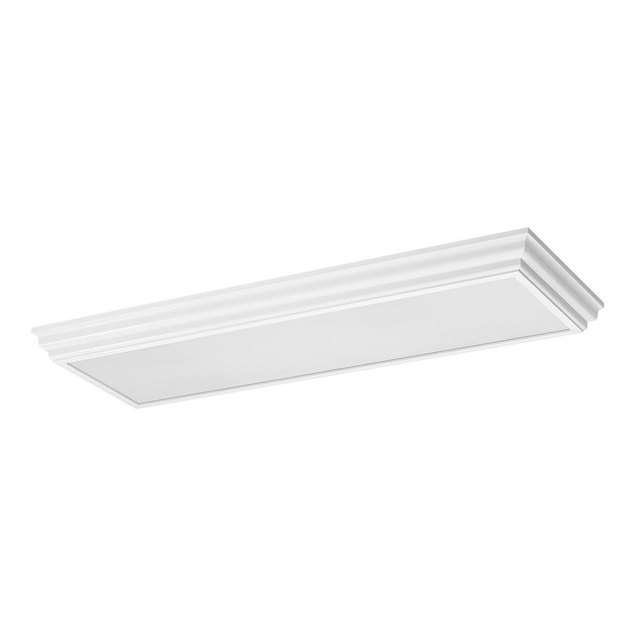 Sea Gull Lighting Decorative Drop Lens White Ceiling Fluorescent Light ENERGY STAR (Common: 1.5-ft; Actual: 4-ft 3.75-in)
