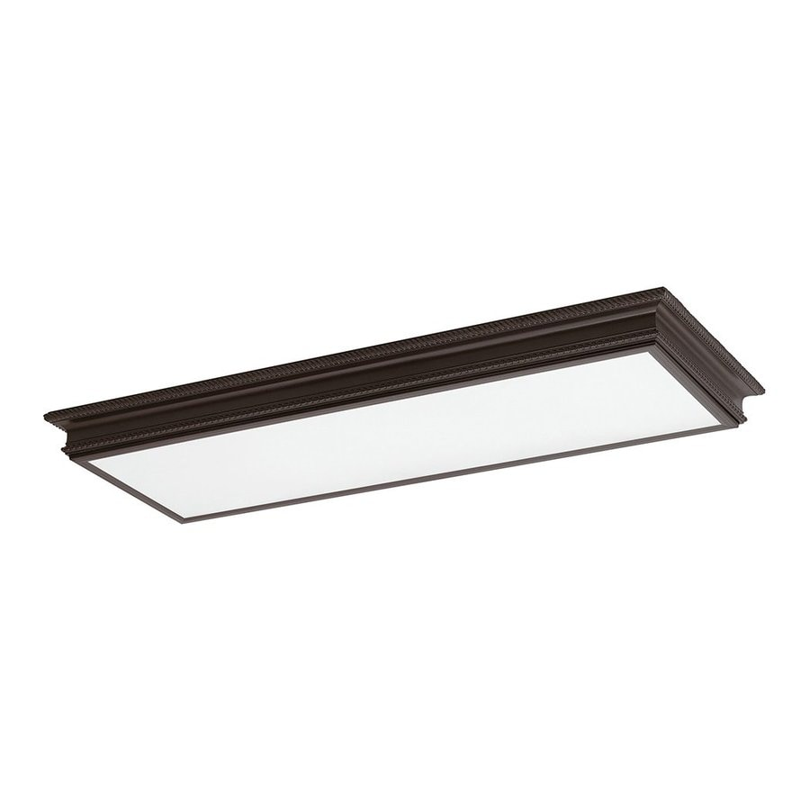 Lowes Novelty Lighting : Shop Sea Gull Lighting Decorative Drop Lens Oil Rubbed Bronze Ceiling Fluorescent Light (Common ...