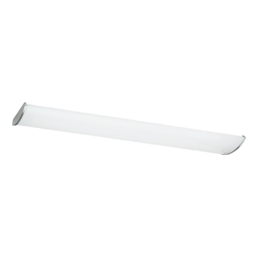 Sea Gull Lighting Leland Brushed Stainless Ceiling Fluorescent Light ENERGY STAR (Common: 4-ft; Actual: 4-ft 0-in)
