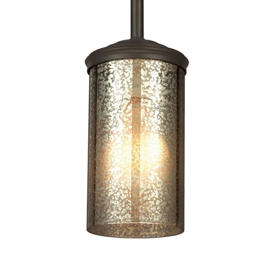 Sea Gull Lighting Sfera 4-in Autumn Bronze Vintage Mini Mercury Glass Cylinder Pendant
