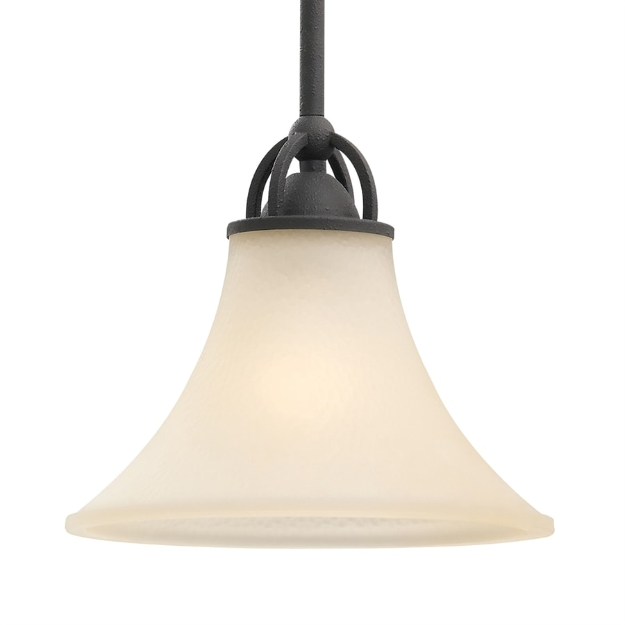 Sea Gull Lighting Somerton 9-in Blacksmith Mini Tinted Glass Bell Pendant