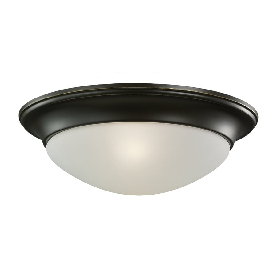 Sea Gull Lighting Nash 11.5-in W Heirloom Bronze Ceiling Flush Mount Light