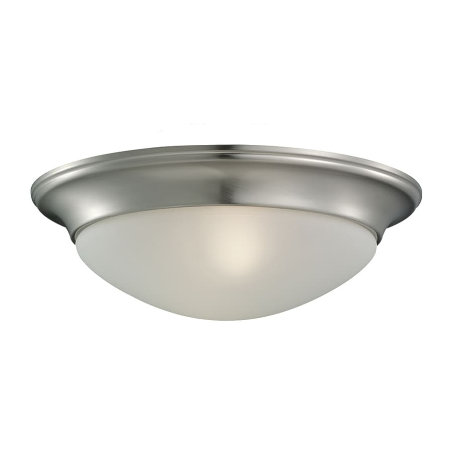Sea Gull Lighting Nash 11.5-in W Brushed Nickel Ceiling Flush Mount Light