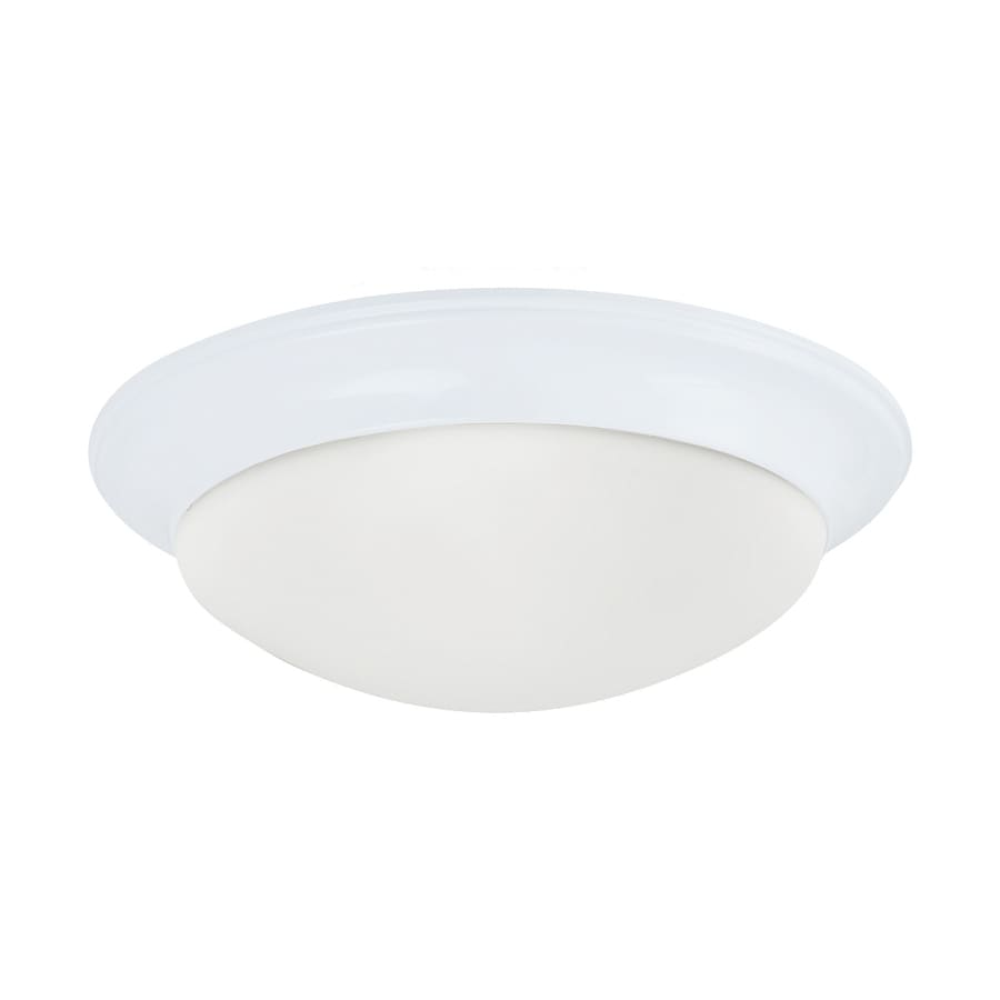 Sea Gull Lighting Nash 16.75-in W White Flush Mount Light
