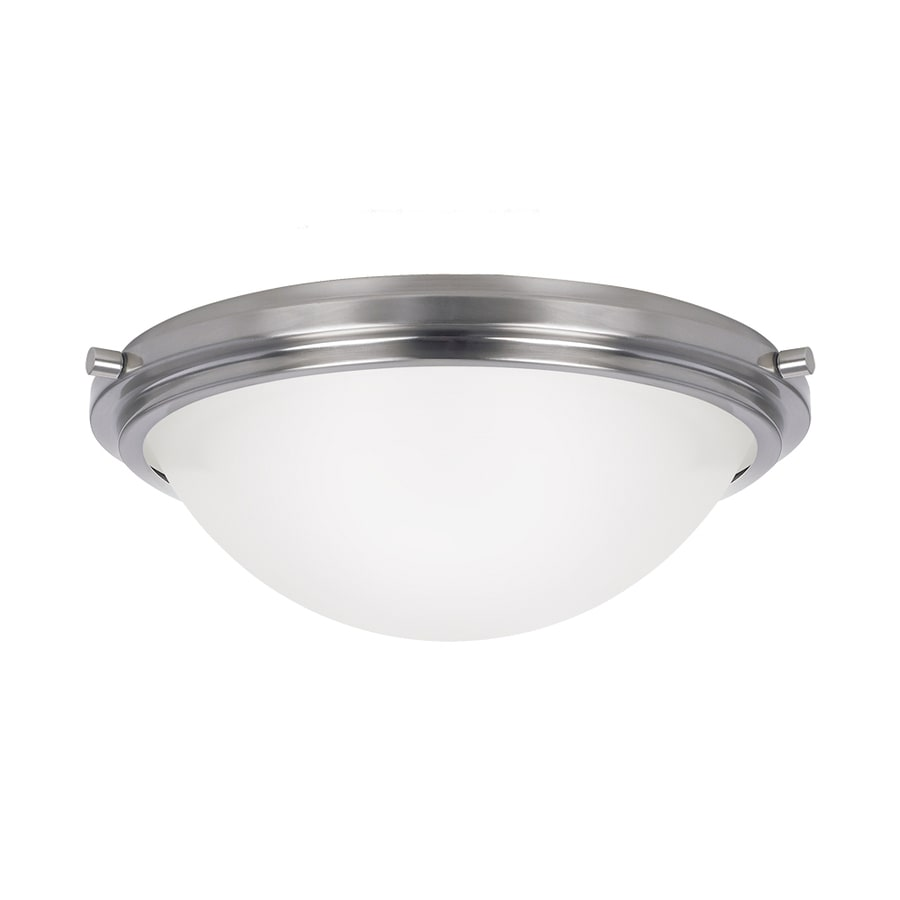 Sea Gull Lighting Winnetka Brushed Nickel Ceiling Fluorescent Light ENERGY STAR (Common: 1.5-ft; Actual: 1-ft 5.75-in)