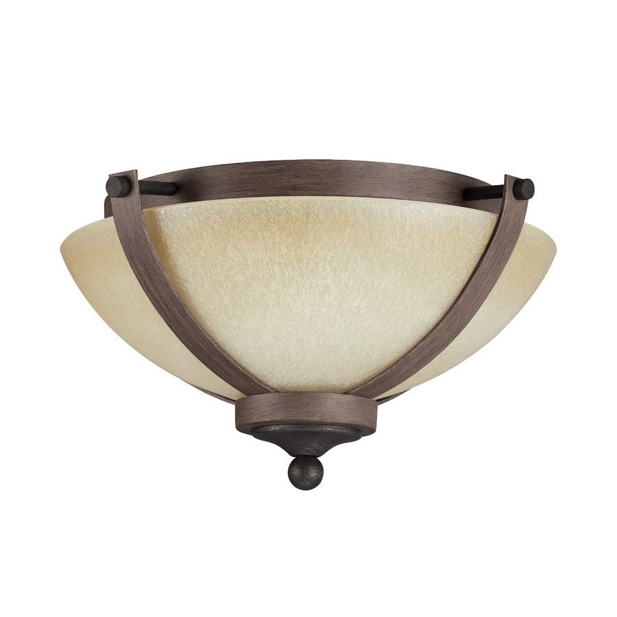 Sea Gull Lighting Corbeille Stardust/Cerused Oak Ceiling Fluorescent Light ENERGY STAR (Actual: 1-ft 3.25-in)