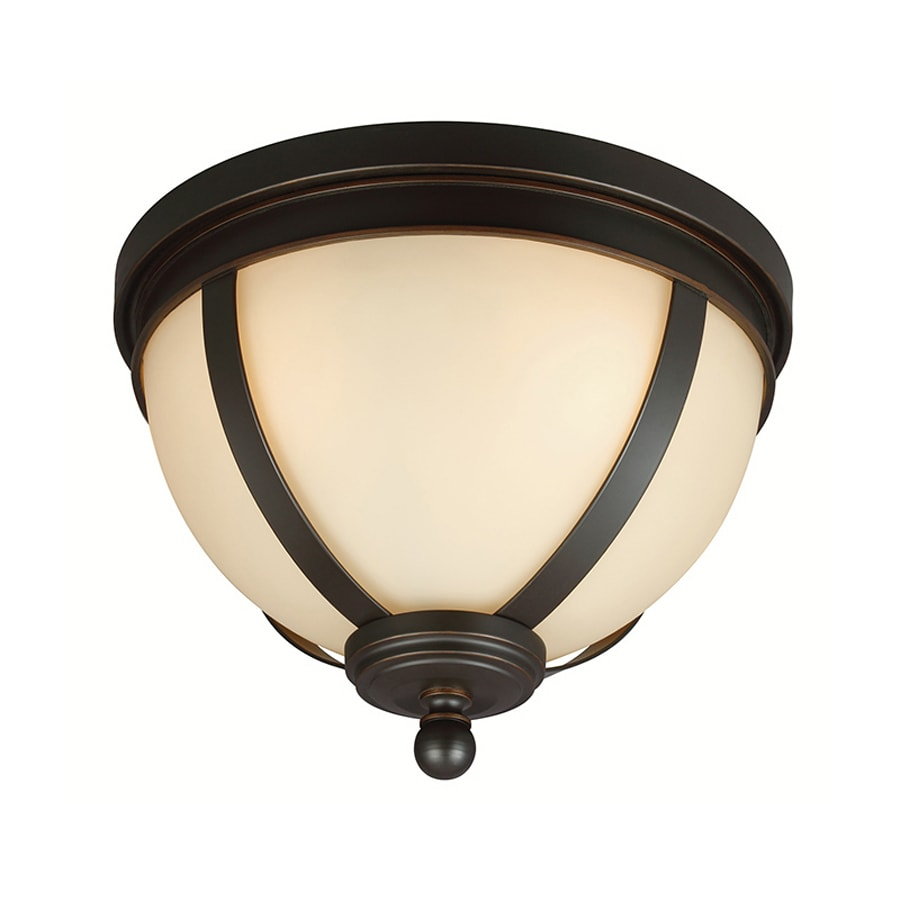Sea Gull Lighting Sfera 14.25-in W Autumn Bronze Ceiling Flush Mount Light
