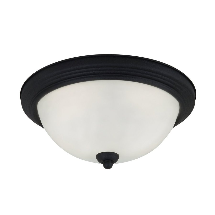 Sea Gull Lighting 10.5-in W Blacksmith Flush Mount Light