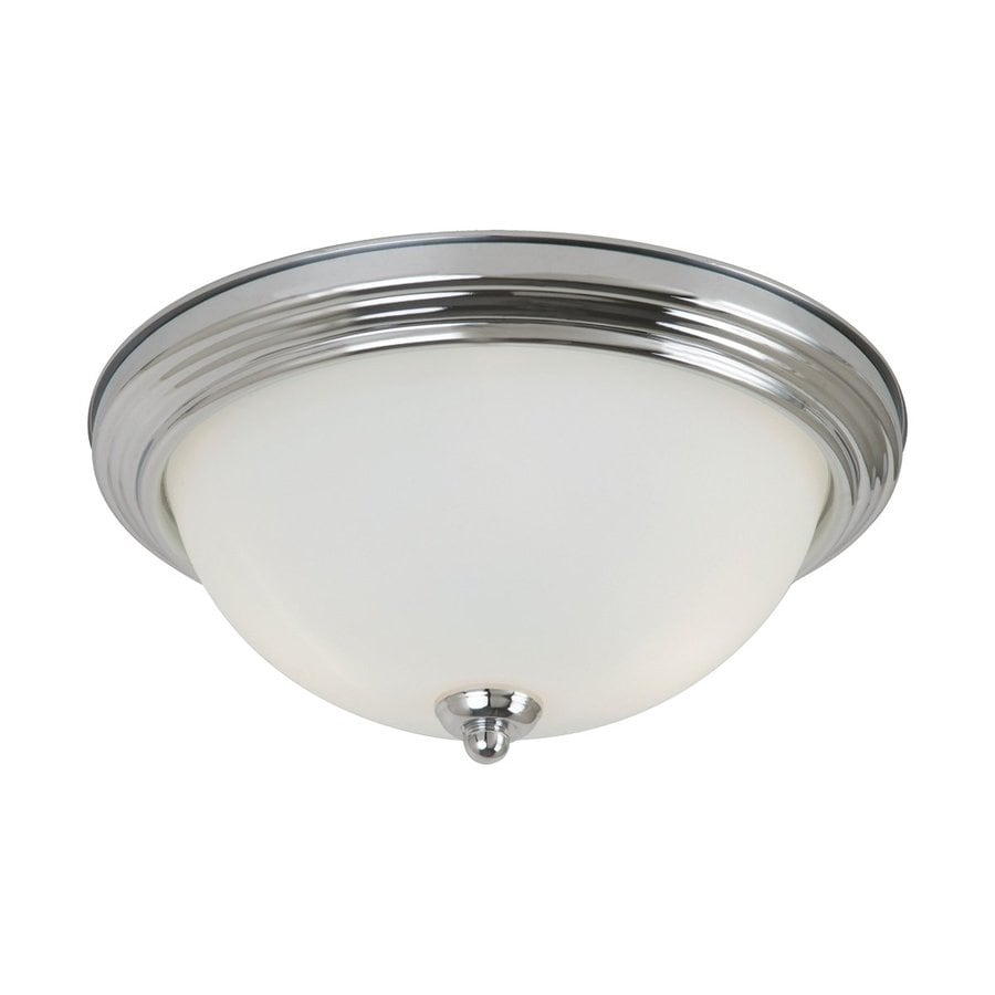 Sea Gull Lighting 15.25-in W Chrome Ceiling Flush Mount Light