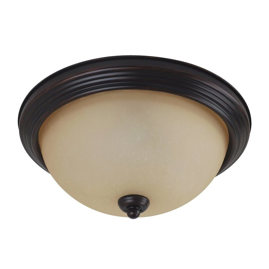 Sea Gull Lighting 14.5-in W Burnt Sienna Ceiling Flush Mount Light