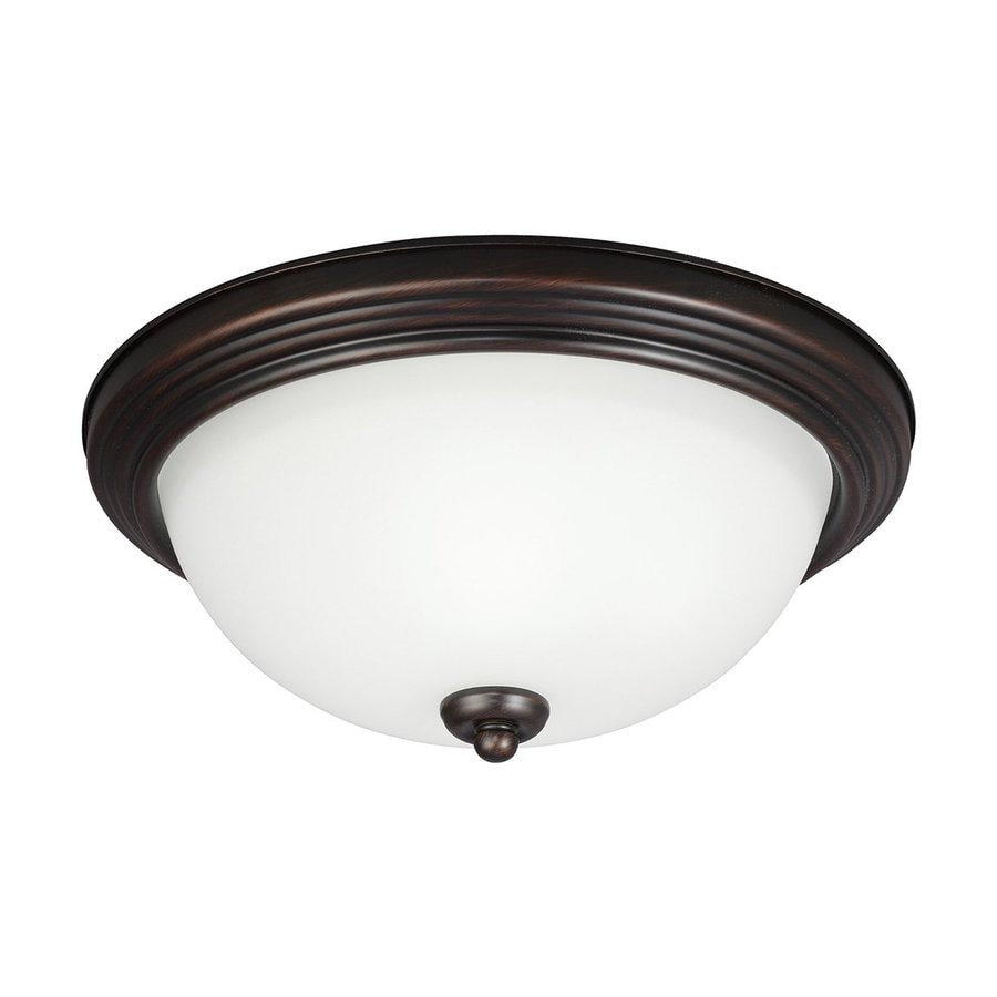 Sea Gull Lighting 10.5-in W Burnt Sienna Flush Mount Light