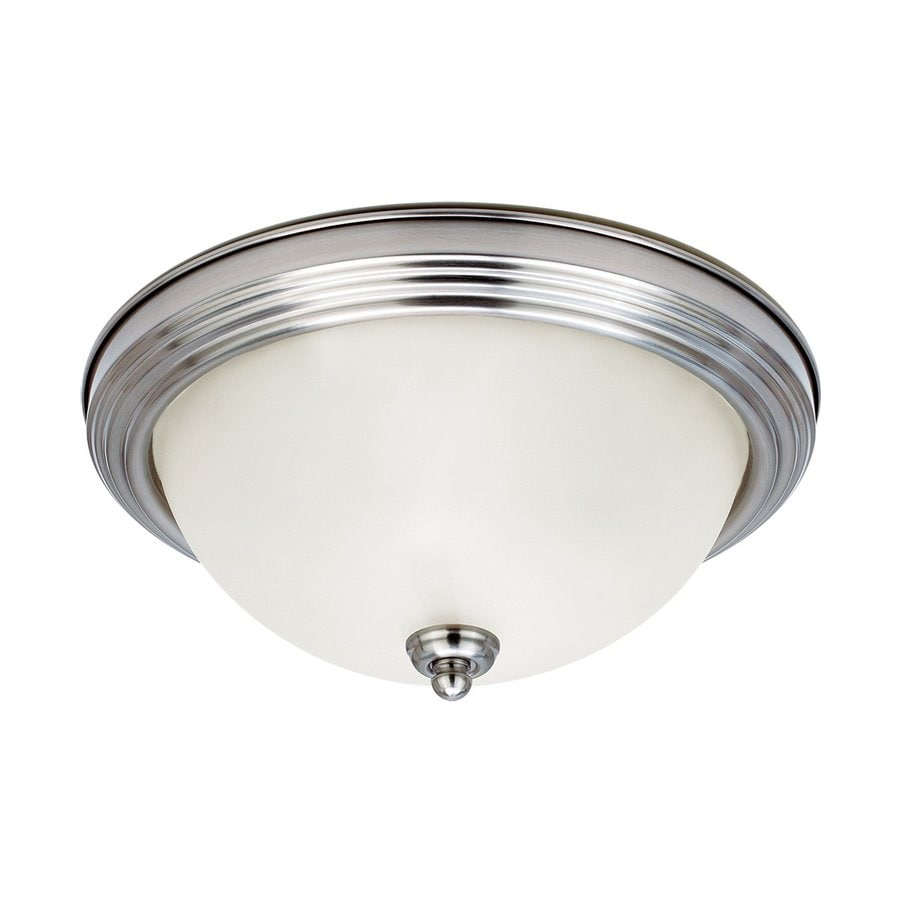 Sea Gull Lighting Brushed Nickel Ceiling Fluorescent Light ENERGY STAR (Actual: 0-ft 10.5-in)