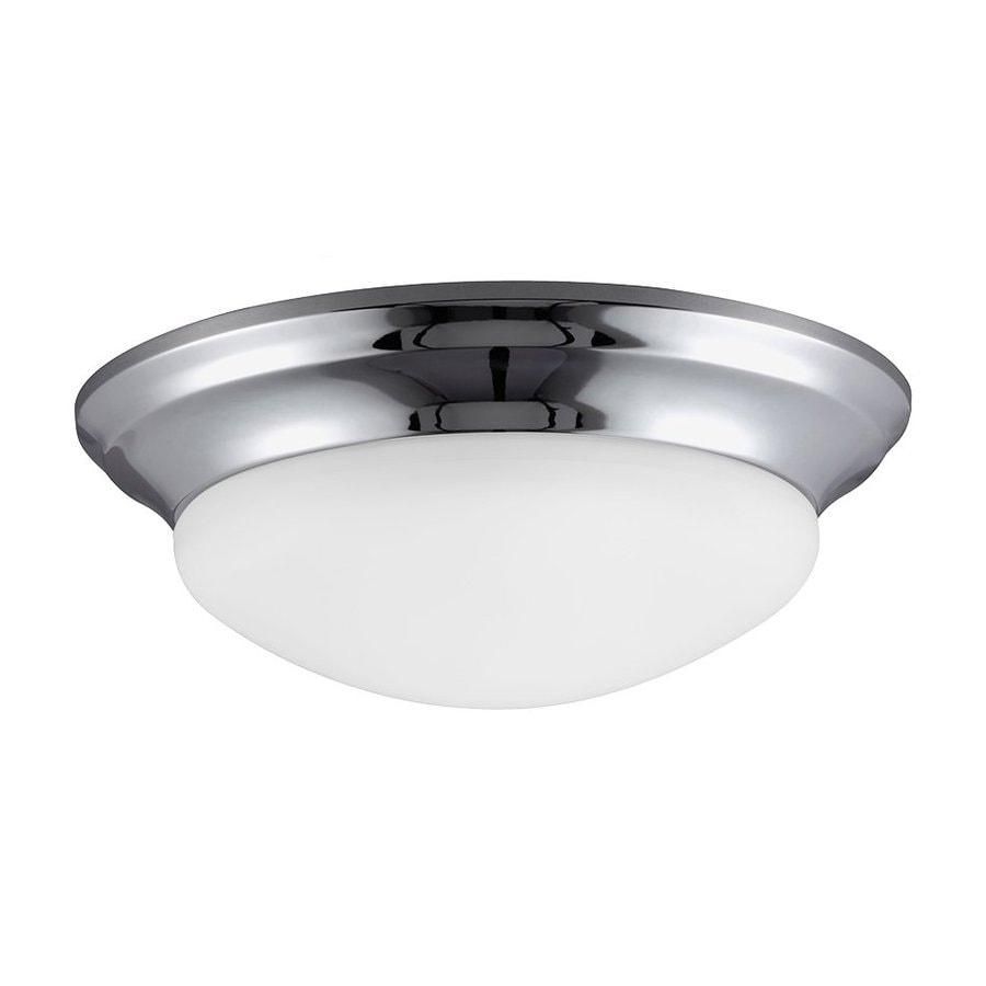 Sea Gull Lighting Nash Chrome Ceiling Fluorescent Light ENERGY STAR (Actual: 0-ft 11.5-in)