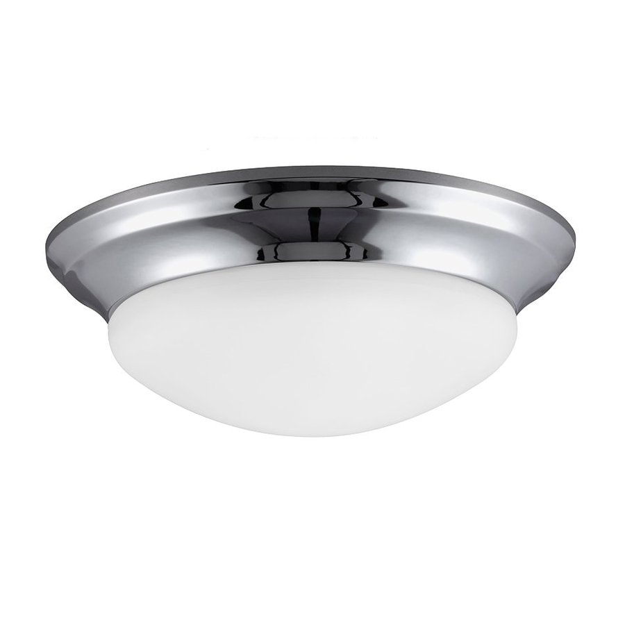 Sea Gull Lighting Nash Chrome Ceiling Fluorescent Light ENERGY STAR (Actual: 1-ft 4.75-in)