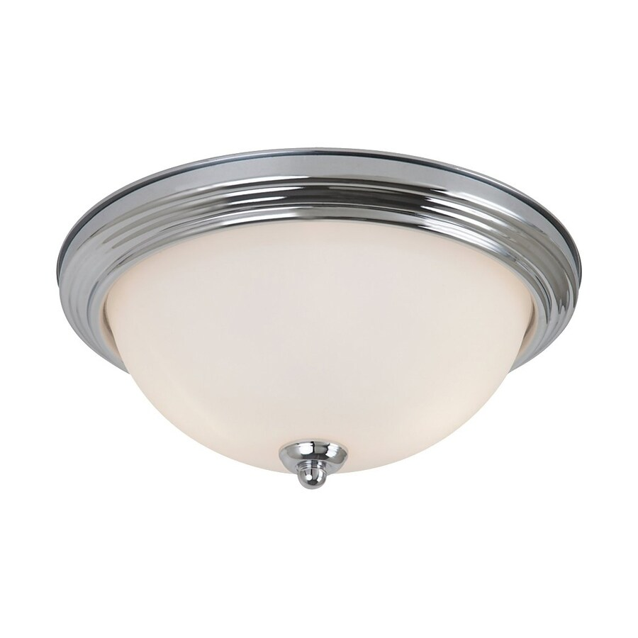 Sea Gull Lighting Chrome Ceiling Fluorescent Light ENERGY STAR (Actual: 1-ft 3.25-in)