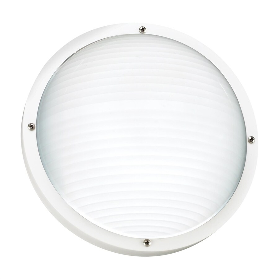 Sea Gull Lighting Bayside 10-in H White Outdoor Wall Light