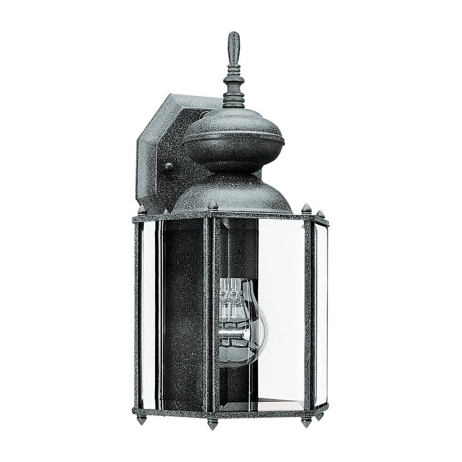 Sea Gull Lighting Classico 12.25-in H Black Outdoor Wall Light