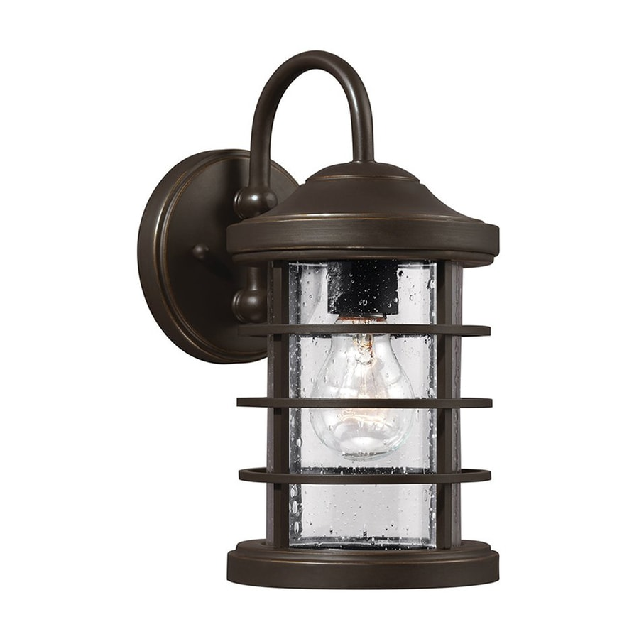 Sea Gull Lighting Sauganash 12.25-in H Antique Bronze Outdoor Wall Light
