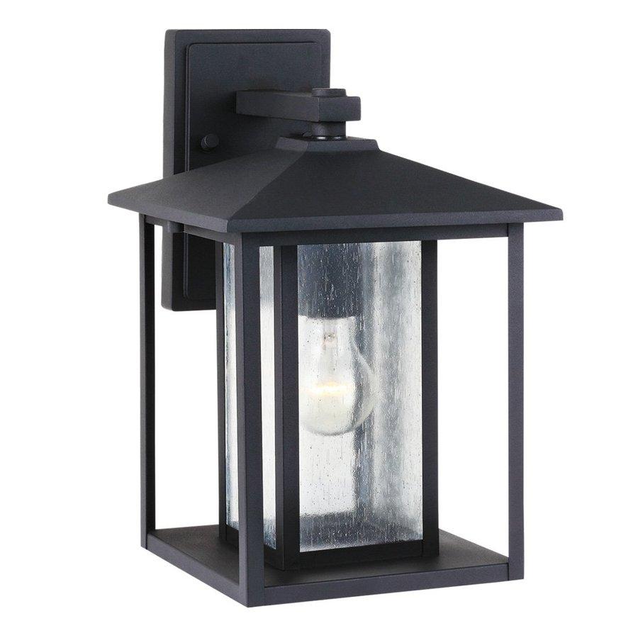 Sea Gull Lighting Hunnington 14-in H Black Outdoor Wall Light