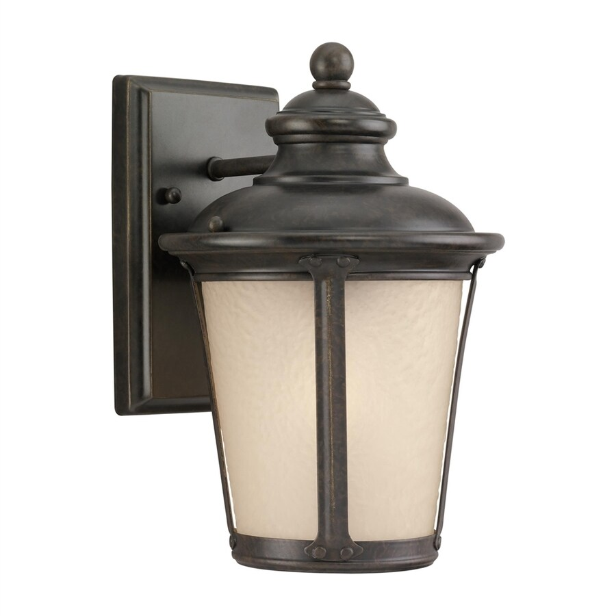 Sea Gull Lighting Cape May 10.5-in H Burled Iron Outdoor Wall Light